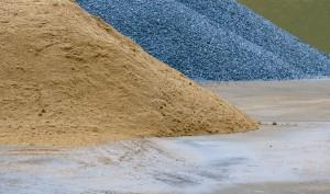 mortar sand and gravel