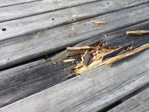 dock impact damage