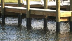 dock repair piling