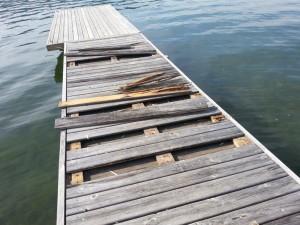 dock weather damage