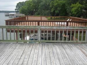 dock weather damaged